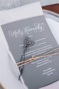 invitations more photos gray lavender menu inside With wedding invitations gray and lavender