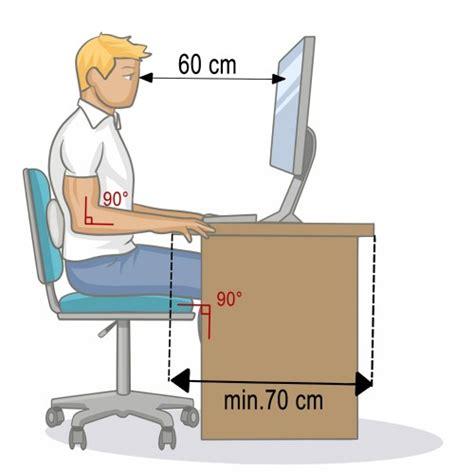 ergonomie au bureau ergonomie au travail 5 règles pour une bonne posture au