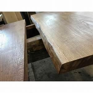 Tischplatte Eiche Geölt : tischplatte waschtisch eiche beidseitig baumkante rustikal geschliffen ge lt 90x45x4 5cm ~ Frokenaadalensverden.com Haus und Dekorationen