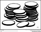 Coloring Coins Coin Blank Template Popular sketch template