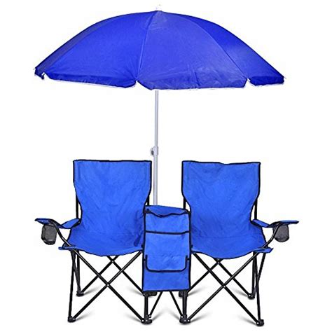 portable folding picnic recline chair w umbrella