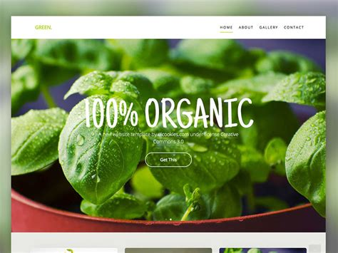 bootstrap template gardening green free html5 website template using bootstrap