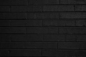 Black Wall Texture And Black Painted Brick Wall Texture