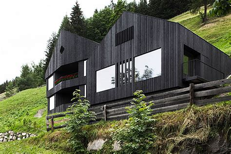 energy efficient house designs rustic wooden alpine house is powered by both solar and