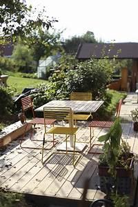 Table De Jardin Bois Et Metal : ensemble de jardin table carr e 4 chaises bois et m tal tina egoe ~ Teatrodelosmanantiales.com Idées de Décoration