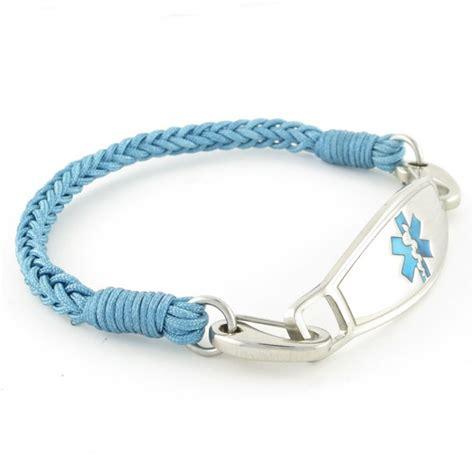 River Braided Medical Id Bracelet  Engraved Woven. 18 Karat Gold Bracelet. Compass Medallion. Bangle Bracelet Jewelry. Genuine Sapphire. Italian Chains. Gold Design Earrings. Gummy Rings. Miyuki Beads