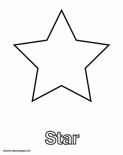 Star Shape Coloring Shapes Stars Pages Template