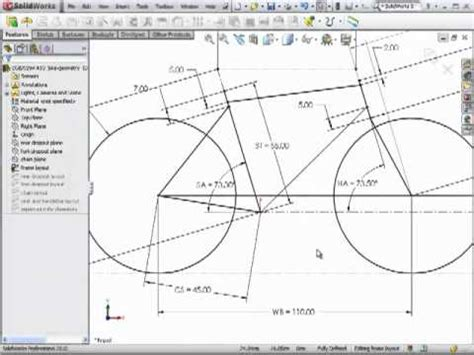 Design Dimensions by Dsid Fa10 Bicycle Frame Geometry Solidworks Tutorial