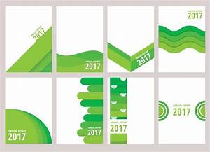 Cover Page Of Report Template In Word Green Annual Report Design Download Free Vectors