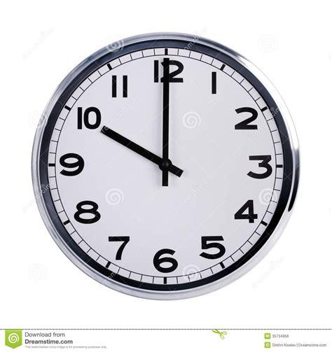horloge de bureau l 39 horloge ronde de bureau montre dix heures photo stock