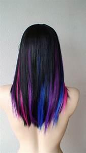 Black hair with blue, purple and pink streaks! | Hair ...