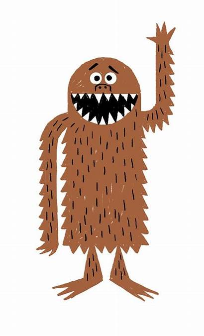 Monster Illustration Bigfoot Emberley Ed Clipart Brown