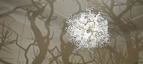 this beautiful chandelier turns your room into a forest