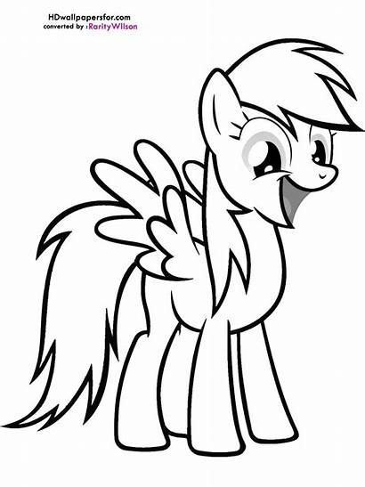 Pony Rainbow Coloring Dash Pages Magic Friendship