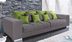 Big Sofa Grün : big sofa swing strukturstoff grau von m bel boss ansehen ~ Indierocktalk.com Haus und Dekorationen