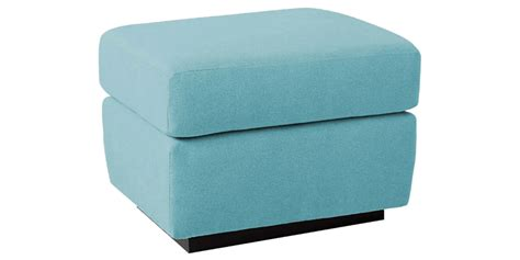 Light Blue Square Ottoman With Cushions Rug Bench Corner Shower Seat Small Outdoor Benches Cast Aluminum Building Deck Seating Tufted Museum