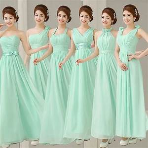 Aliexpress.com : Buy Mint Bridesmaid Dresses To Party Long ...