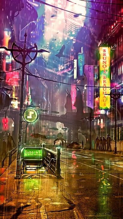 Cyberpunk Neon Android Wallpapers Futuristic