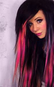 black and pink | Hair | Pinterest