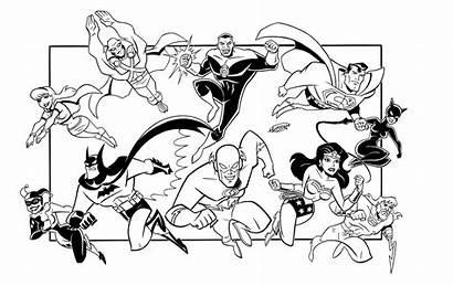 Coloring Justice Pages League Dc Comics