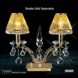 Tara 2 arm crystal table lamp il30050 the lighting for 2 arm table lamp