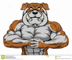 Strong Bulldog Mascot stock vector. Illustration of ...