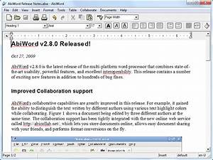 abiword portable portableappscom portable software With documents for word processor