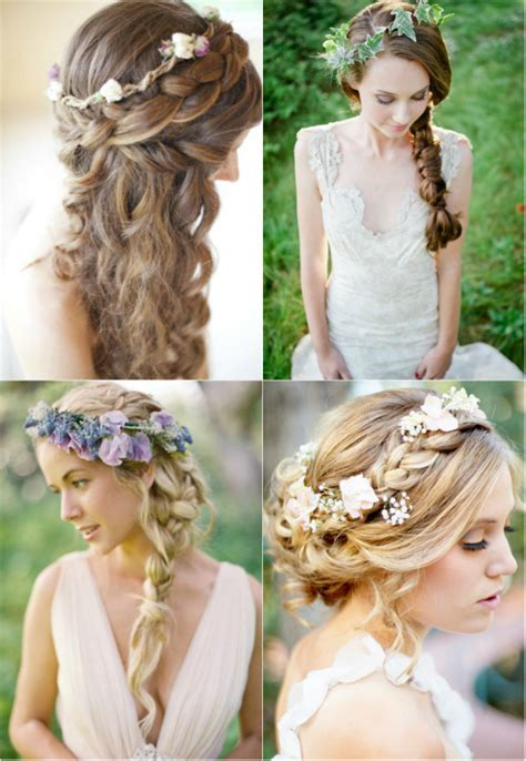 long blonde wedding hairstyles with braids and