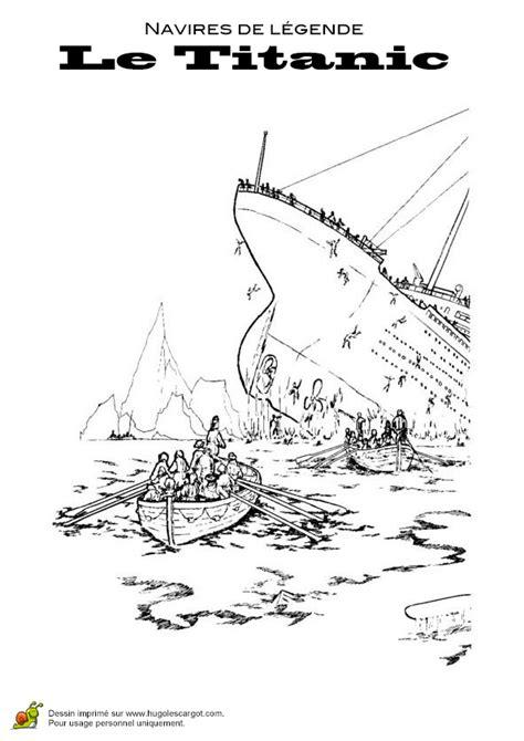 Dibujo Barco Titanic Para Colorear by Coloriage Des Personnes En Train De Fuir Le Titanic Qui