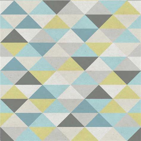 papier peint bleu geometrique chaios com