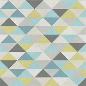 Papier Peint Motif Geometrique : papier peint bleu geometrique ~ Dailycaller-alerts.com Idées de Décoration