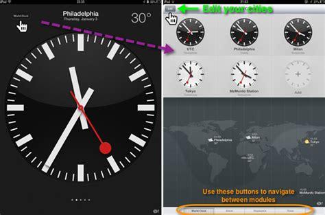 set ipad clock app ios mac observer