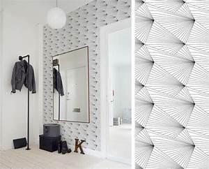 Tendance Papier Peint Couloir : papier peint erica wakerly fan inside pinterest white walls wall design et wallpaper ~ Melissatoandfro.com Idées de Décoration