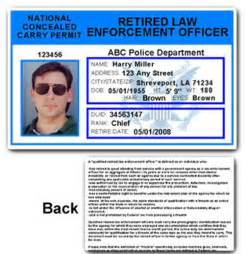 Police Officer Retired ID Cards