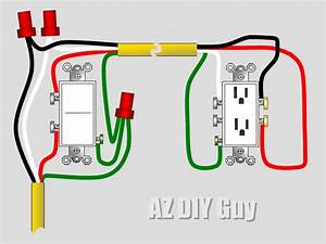 How To  Wire A Split  Switched Outlet By Az Diy Guy U0026 39 S
