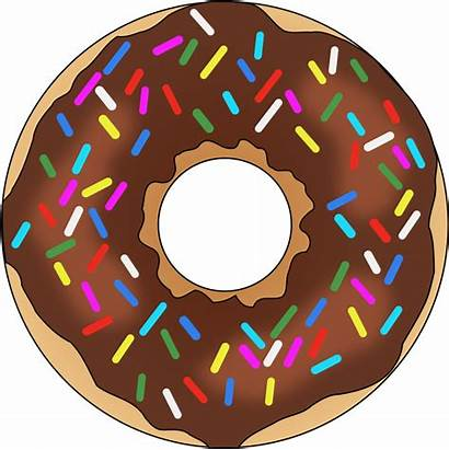 Donut Clipart Chocolate Sprinkles Sprinkle Rainbow Transparent