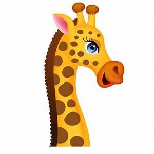 Tete Animaux Deco : sticker girafe un autocollant jungle repositionnable pour ~ Teatrodelosmanantiales.com Idées de Décoration