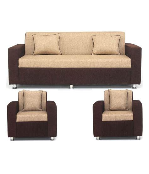 Sofa Set Designs With Price Below 15000 by Bls Tulip Brown 3 1 1 Seater Sofa Set Rs 11 799