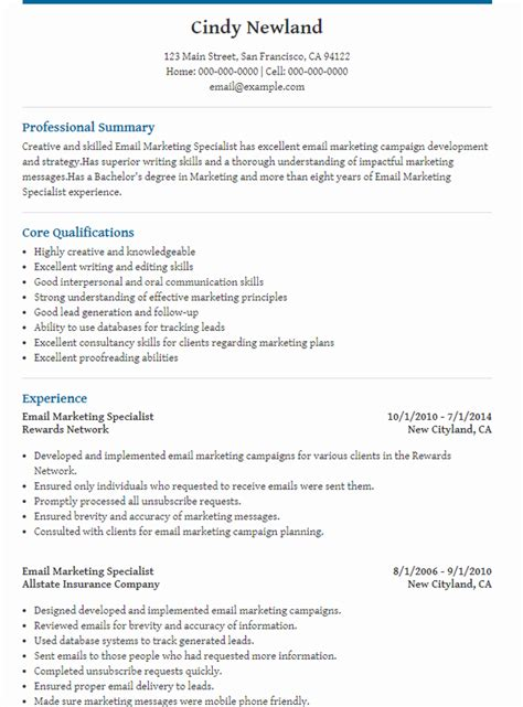 Marketing Cv by The 10 Best Digital Marketing Cv Exles Templates