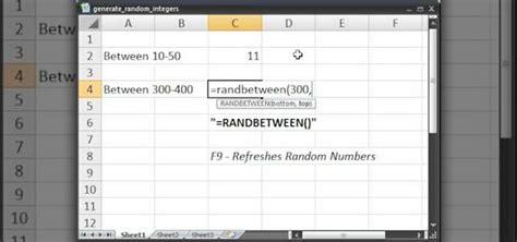 how to generate random numbers integers in excel 171 microsoft office