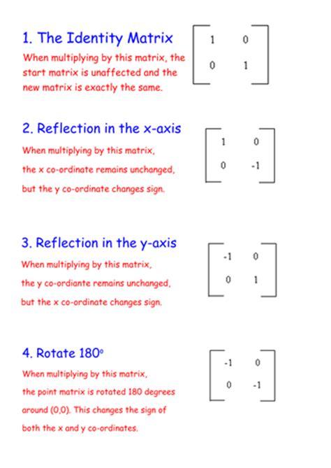 matrix transformations   teaching resources