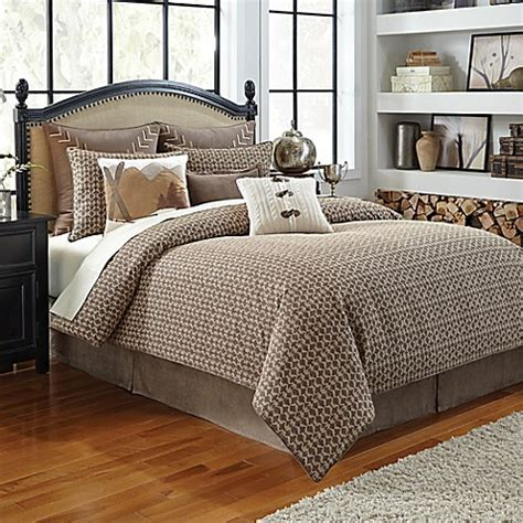 croscill comforter sets croscill 174 aspen comforter set in taupe bed bath beyond