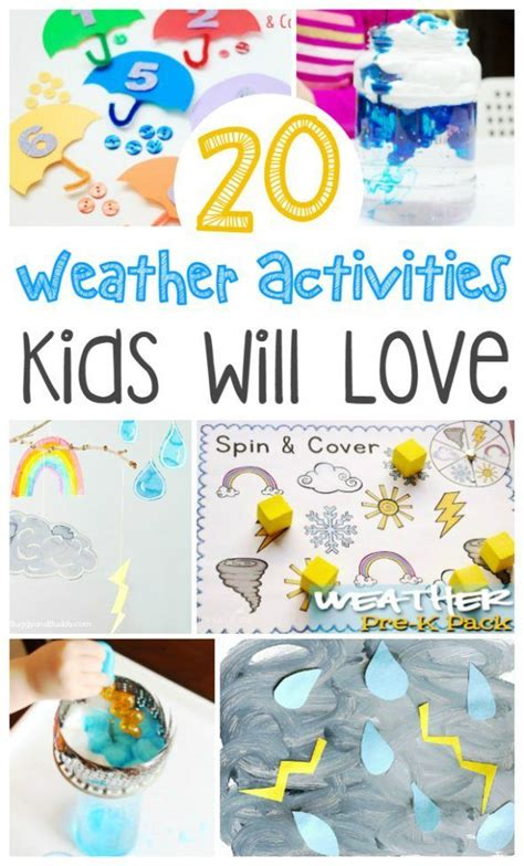20 weather activities will 608 | be9bcc3085a536a44537dc82b30bcc59 weather kindergarten preschool weather