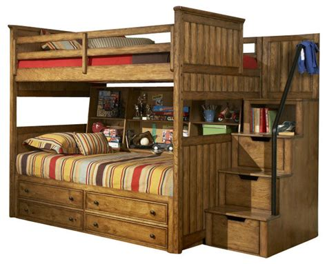 legacy classic timber lodge bunk bed w