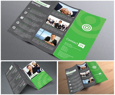 15x5 Three Panel Brochure Template Folds To 5x5 Includes 11x17 Tri Fold Brochure Printing