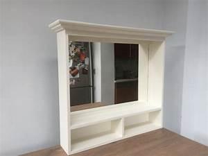Badmöbel Landhaus Weiß : spiegel wei massivholz spiegel im landhausstil ma e 93x80 cm bad waschtische badm bel ~ Indierocktalk.com Haus und Dekorationen