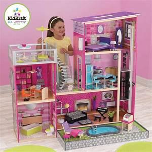 Barbiehaus Aus Holz : kidkraft puppenhaus stadthaus barbiehaus puppenhaus ~ Watch28wear.com Haus und Dekorationen