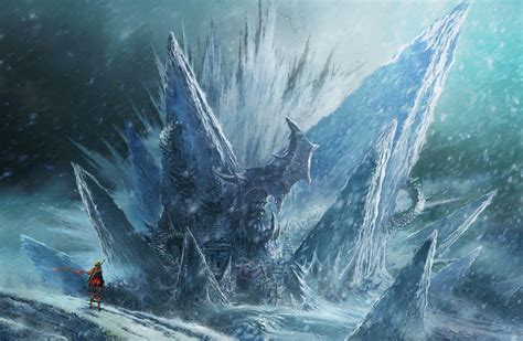 ice fantasy art wallpapers hd desktop  mobile