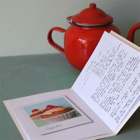 creer un cahier de recettes de cuisine un cahier de recettes à fabriquer soi même