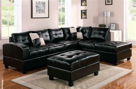 Leather Sectional Sleeper Sofas by 21 Collection Of Black Leather Sectional Sleeper Sofas
